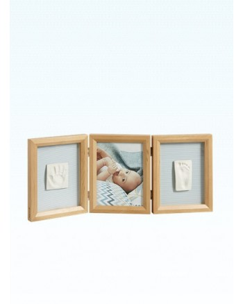 Baby Art My Baby Touch Wooden Double Frame - Honey