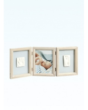 Baby Art My Baby Touch Wooden Double Frame - Stormy