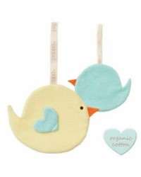 Držiak na cumlík PEPPA Comfort Buddies - bird - yellow/baby blue