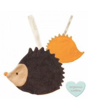 Držiak na cumlík PEPPA Comfort Buddies - hedgehog - anthracite/orange