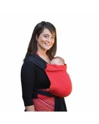 Šatka na nosenie detí Babylonia BB - TAI - currant red & black