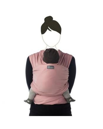 Šatka na nosenie detí Babylonia TRICOT - SLEN organic - soft pink