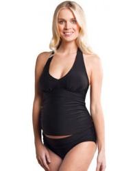 Tehotenské plavky Carriwell dvojdielne TANKINI - čierne