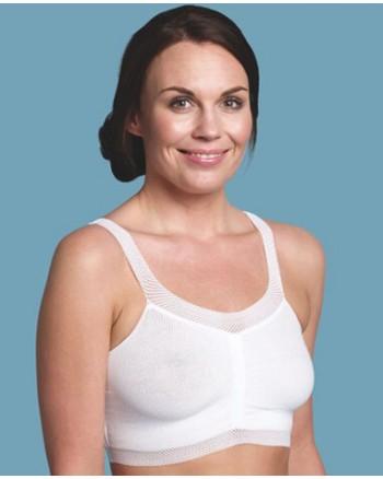 Tehotenská/dojčenská bezšvová podprsenka Carriwell BIELA