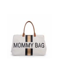 Childhome Prebaľovacia taška Mommy Bag BIG - Off white/Black Gold