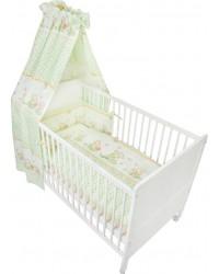 Fillikid Set posteľného prádla Basic ( BIELO-ZELENÁ ) - Macko