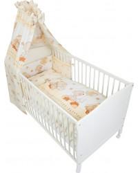 Fillikid Set posteľného prádla Basic ( BIELO-BÉŽOVÁ ) - Macko
