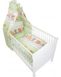 Fillikid Set posteľného prádla Basic ( BIELO-ZELENÁ ) - Zvieratká