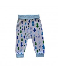 Pudlové nohavice Happy Babies - Modrí panáci