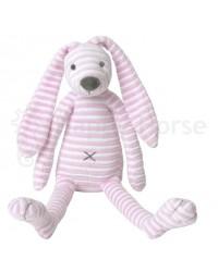 Plyšová hračka HAPPY HORSE Ružový pruhovaný zajačik REECE No.2