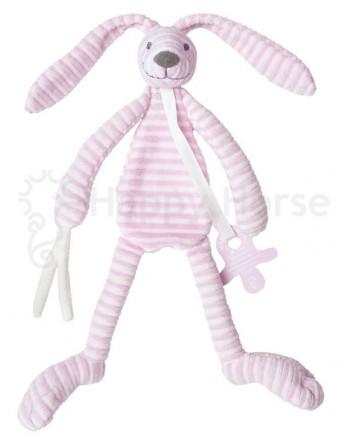 Maznáčik HAPPY HORSE Ružový pruhovaný zajačik REECE