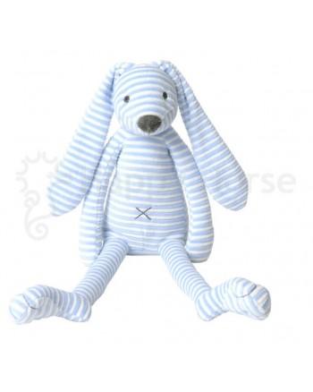 Plyšová hračka HAPPY HORSE Modrý pruhovaný zajačik REECE No.1
