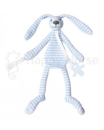 Maznáčik HAPPY HORSE Modrý pruhovaný zajačik REECE
