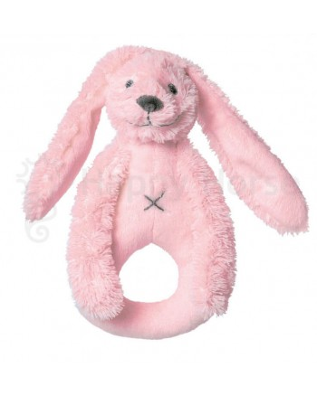 Hrkálka látková HAPPY HORSE Ružový zajko RICHIE