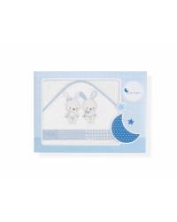 Froté osuška Interbaby Traja Kamaráti - bielo/modrá