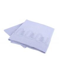 Interbaby Pletená deka s lemom - modrá