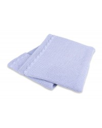 Interbaby Pletená deka jemná - modrá