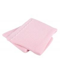 Interbaby Pletená deka jemná - ružová