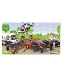 Janod Sada puzzle v krabičke - Policajné auto