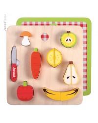 Janod Drevené ovocie a zelenina na krájanie