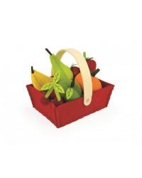 Janod Textilné ovocie v košíku 8ks
