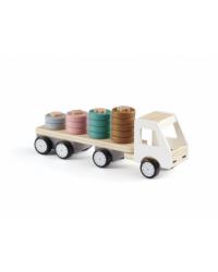 Kids Concept Drevený nákladiak s krúžkami Aiden