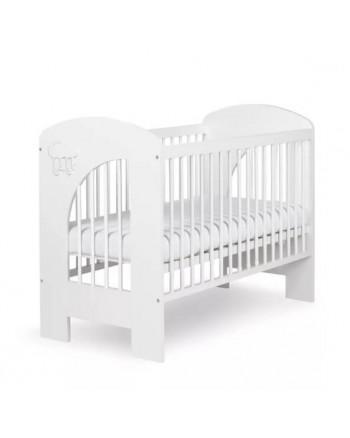 Detská postieľka Klups NEL - Obláčik 120x60cm biela