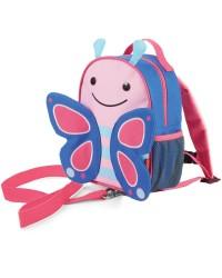 SKIP HOP Mini batoh Zoo s vodítkom - Motýlik