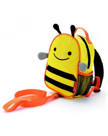 SKIP HOP Mini batoh Zoo s vodítkom - Včielka