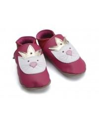 Kožené topánočky STARCHILD - Princess Paws Fuchsia - KIDS