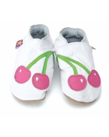 Kožené topánočky STARCHILD - Cherry baby white