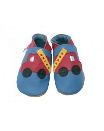 Kožené topánočky STARCHILD -Fire Engine blue