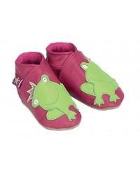 Kožené topánočky STARCHILD - Frog Fuchsia - KIDS