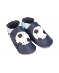 Kožené topánočky STARCHILD - Football navy