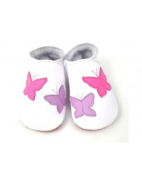 Kožené topánočky STARCHILD - Flutterbye White