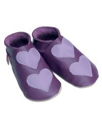 Kožené topánočky STARCHILD - Lovehearts Grape / mauve