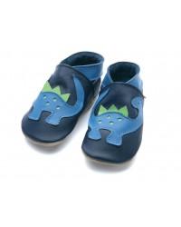 Kožené topánočky STARCHILD - Dino Navy - KIDS