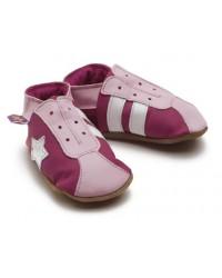Kožené topánočky STARCHILD - Retro Trainers In Fuchsia Pink