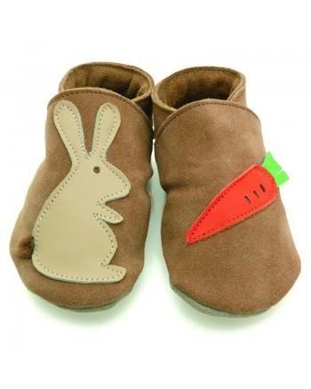 Kožené topánočky STARCHILD - Rabbit carrot sand - KIDS