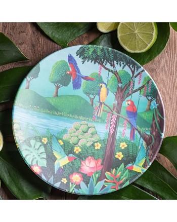 Tommy Lise Bird Paradise Bambusový tanier