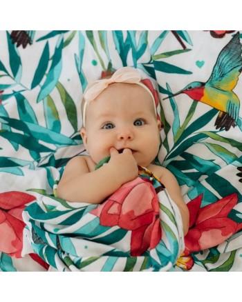 Tommy Lise Bambusová Mušelínová plienka Flowery Grace