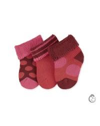 Kojenecké froté ponožky Sterntaler - dievča 3páry