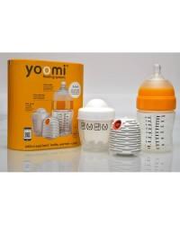 3v1 Dojčenská fľaša 240ml + ohrievač + nabíjačka na ohrievač YOOMI