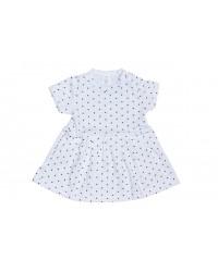 Letné šaty Antony - bodka - biele