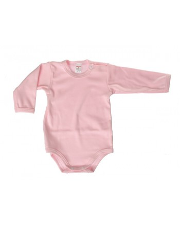Body dlhý rukáv Antony - jednofarebné (ružové)