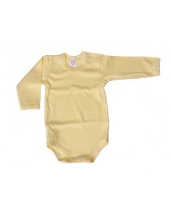 Body dlhý rukáv Antony - jednofarebné (žlté)
