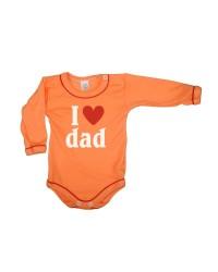Body dlhý rukáv Antony - Dad - oranžové