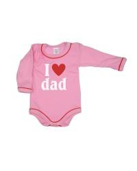 Body dlhý rukáv Antony - Dad - ružové
