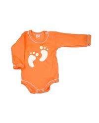 Body dlhý rukáv Antony - Feet - oranžové