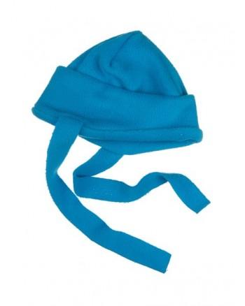Flisová čiapka so šnúrkami Antony - tmavomodrá